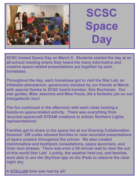 Space Day article