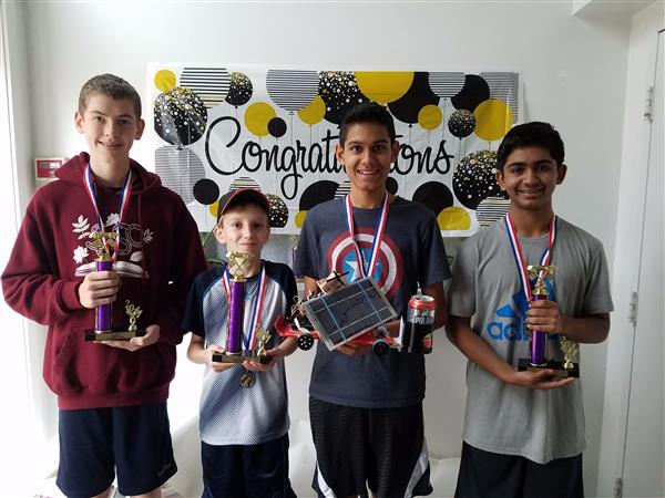 Students will Junior Solar Sprint awards